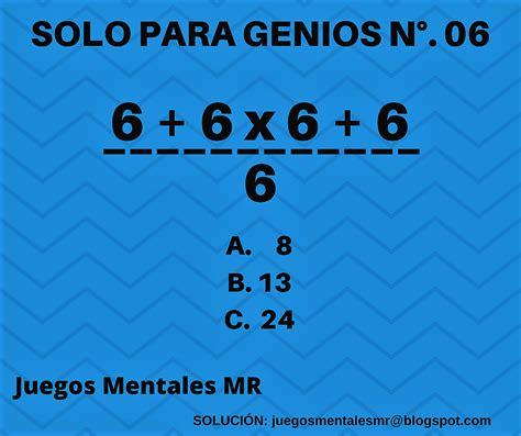 Juegos Mentales Mr Solo Para Genios N° 06