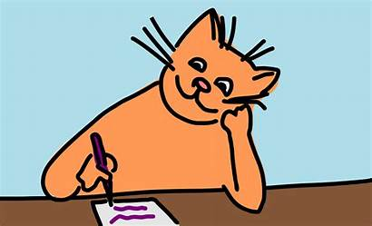 Writing Clipart Clip Write Cat Animated Cliparts