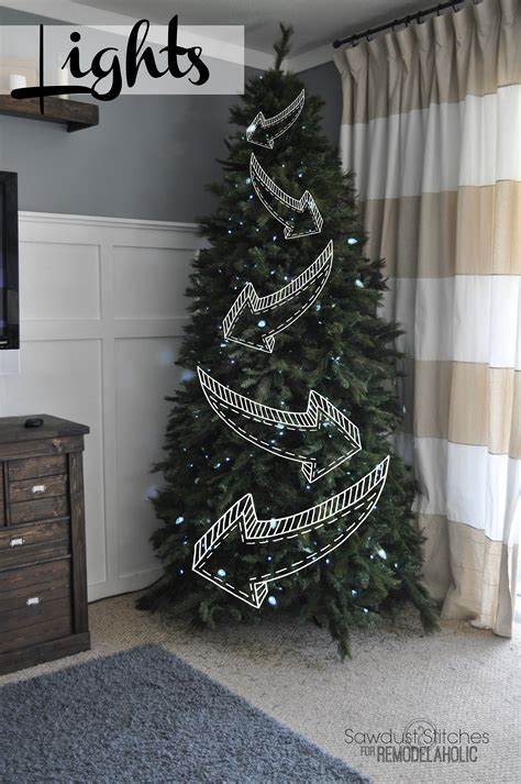 remodelaholic   decorate  christmas tree