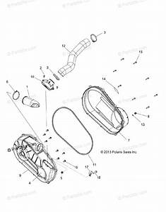 Polaris Side By Side 2015 Oem Parts Diagram For Drive Train  Clutch Cover  U0026 Ducting