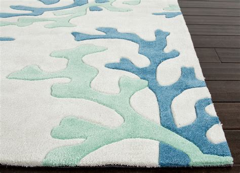 fusion coral fixation area rug
