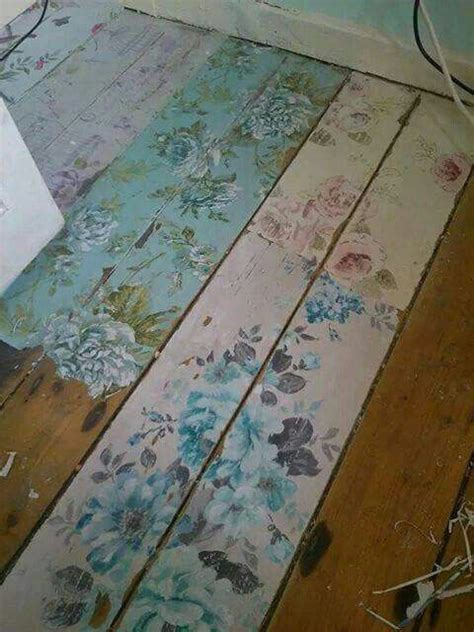 create     shabby chic flower floor boards