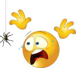 Clip Art Smiley Scared Spider