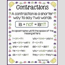 Ice Cream Cone Contractions  ★ Educational Blogs And Blog Posts ★  Phonics Rules, Teaching