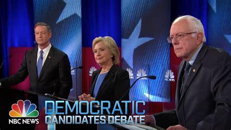 nbc news youtube democratic debate full youtube