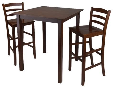 winsome parkland 3 square dining set in antique