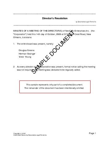 corporate resolution template directors resolution mexico templates agreements contracts and forms