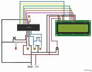 Interfacing 16x2 Lcd With Atmega16 Avr Microcontroller In