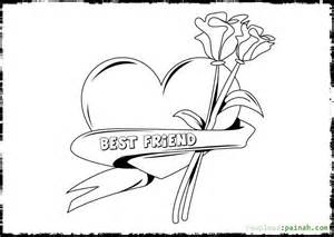 Best Friend Coloring Pages