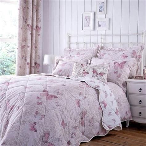 blush botanica butterfly thermal eyelet curtains dunelm