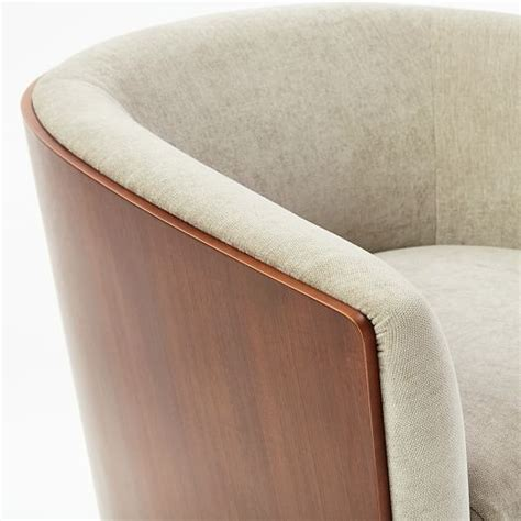 luther swivel chair luther swivel chair west elm 3899