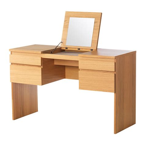 ikea dressing table mirror ransby dressing table with mirror oak veneer 125x50 cm ikea