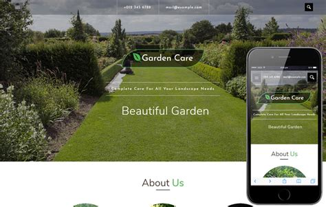bootstrap template gardening garden care an agriculture category bootstrap responsive
