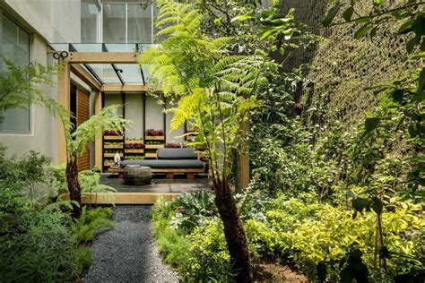 kitchen furniture small spaces garden house in mexico welcomes nature and contemplation