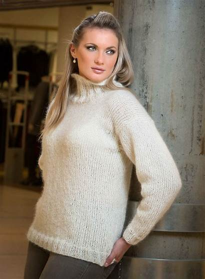 Mohair Genser Viking Strikket Kid Sweater Fine