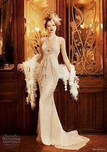 1920s wedding dresses With flapper style wedding dress