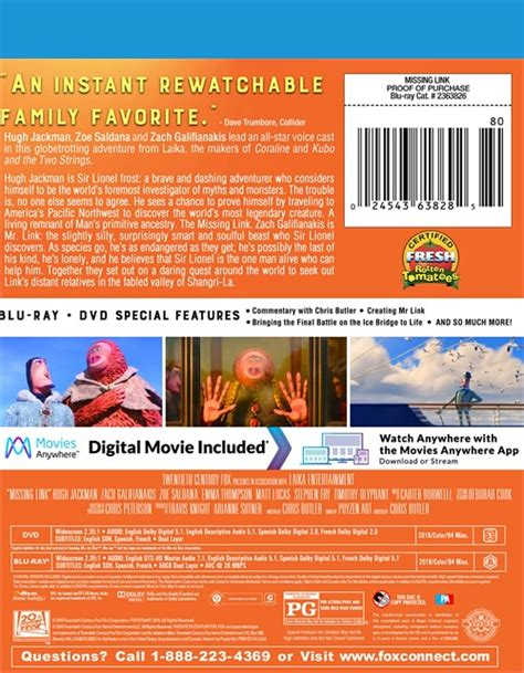 missing link bluraydvd blu ray  dvd empire