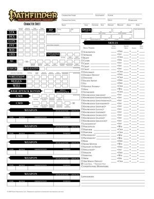 pathfinder advanced template paizo community use package pathfinder roleplaying record sheets