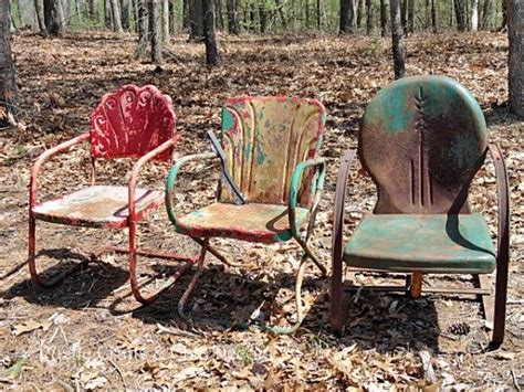 how to paint and metal outdoor chairs