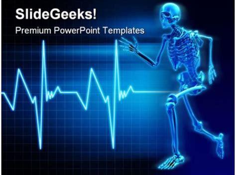 skeleton running science powerpoint templates