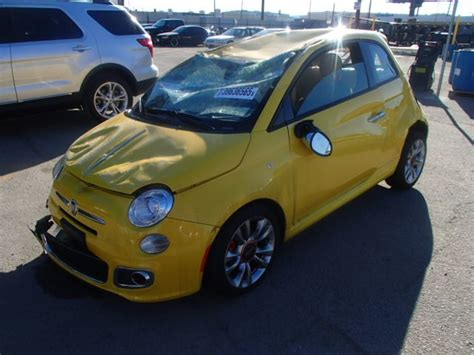 Fiat Parts by 2015 Fiat 500 Sport 1 4 5 Speed Yellow Damaged All