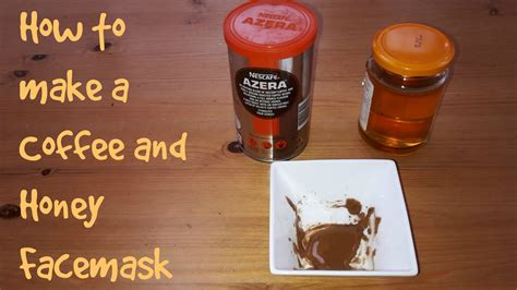 Skin appears smoother and more toned. How to make a coffee and honey face mask - YouTube