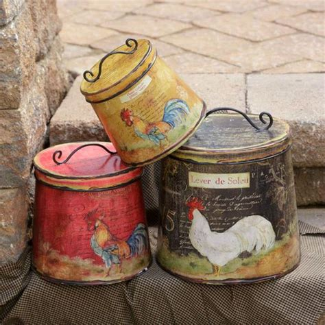 rooster canisters kitchen products western decor tagged quot canisters quot buffalo trader