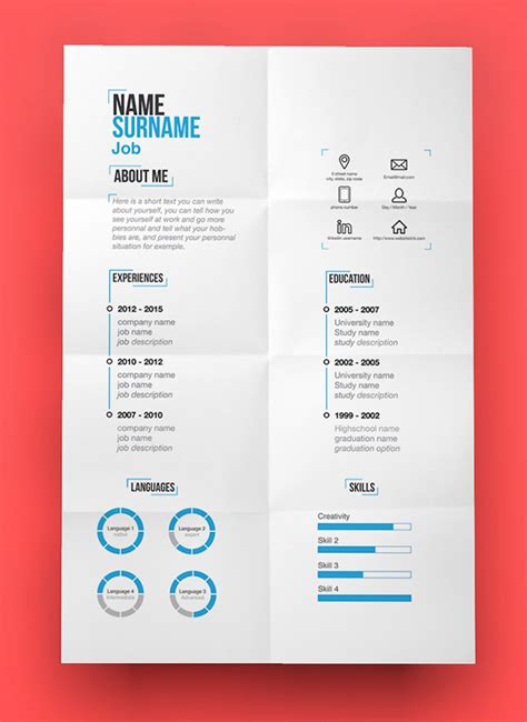 modern cv template 15 free modern cv resume templates psd freebies graphic design junction