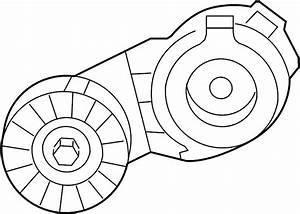 Volkswagen Routan Accessory Drive Belt Tensioner Assembly