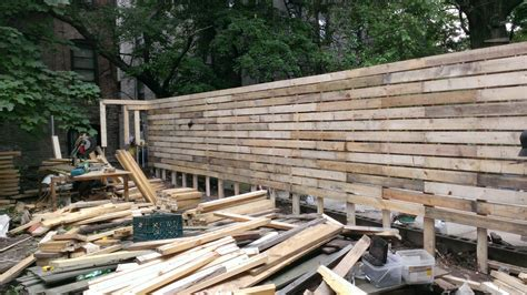 100% Salvaged Material Fence