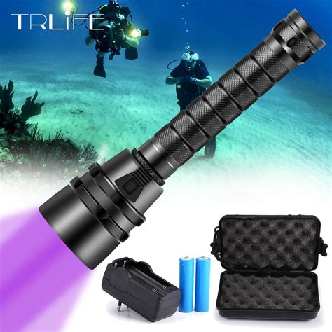 uv light diving flashlight xuv flash light led torch