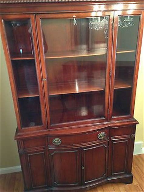 Duncan Phyfe China Cabinet Value by Antique 1930s Duncan Phyfe Depression Mahogany Glass Front