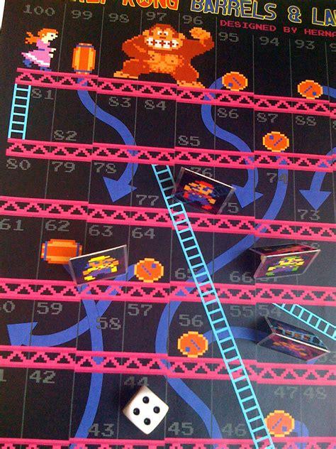 donkey kong fan  board game barrels ladders technabob