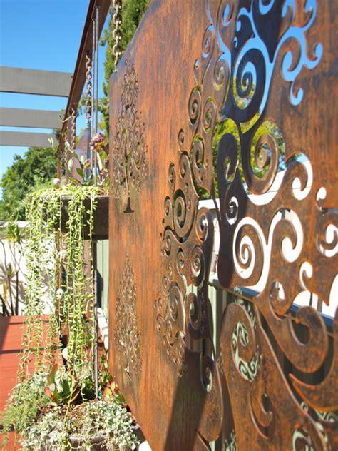 corten steel designs corten steel garden screens contemporary garden perth by sustainable garden design perth