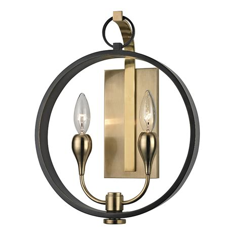 dresden aged bronze two light wall sconce hudson