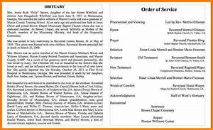 examples of obituaries for a father With writing obituaries templates