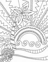 Coloring Beach Pages Summer Doodle Printable Sheets Alley Pdf Oregon Adult Colouring Tropical Printables Adults Sheet Mandala Print Fun Doodles sketch template