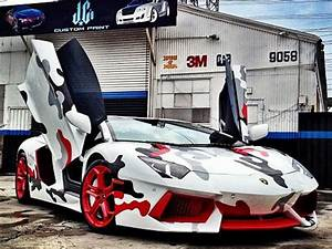 Chris Brown's Lamborghini Aventador Gets Camo'd - GTspirit