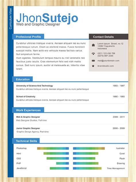 25 best ideas about resume template on