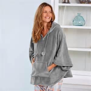 Robes De Chambre Femme Hiver by Robe De Chambre Polaire Poncho Test