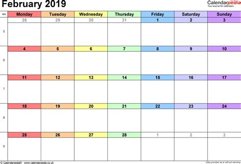 calendar february uk bank holidays excelpdfword templates