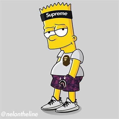 Supreme Bart Wallpapers Simpson Hypebeast Simpsons Bape