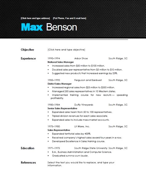 Contemporary Resume Templates by Modern Resume Template Beepmunk