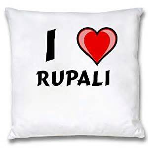 white cushion cover with i rupali