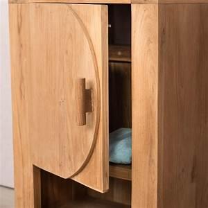 petit meuble de salle de bain ou wc 44cm en teck massif With petit meuble salle de bain teck