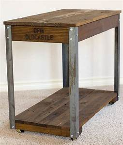 rustic industrial coffee side table 17 wide x 31 long x With coffee table legs with wheels