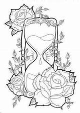 Coloring Pages Tattoo Skull Adults sketch template