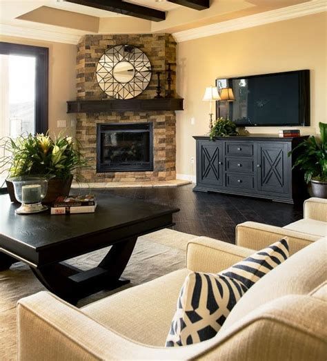 Living Room With Fireplace In Corner by Design Dilemma Arranging Furniture Around A Corner