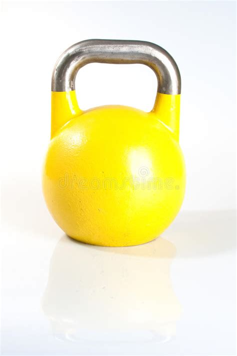 kettlebell weights row gym colorful yellow kettle lanes bells attractive swim swimming pool