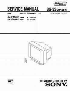 Sony Kv-xf21m80 Service Manual